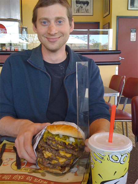 Fatburger Triple King Challenge Times Two Bacon Today