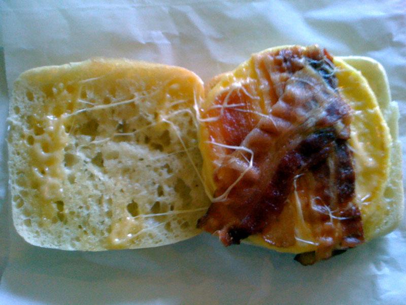 Starbucks Breakfast Sandwich – Bacon, Gouda Cheese & Egg Frittata on ...