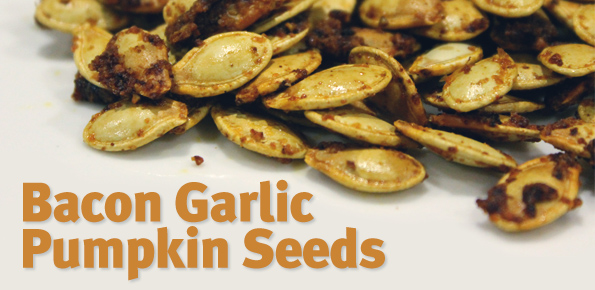 Bacon Garlic Pumpkin Seeds
