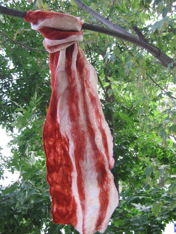 bacon scarf etsy - Copy