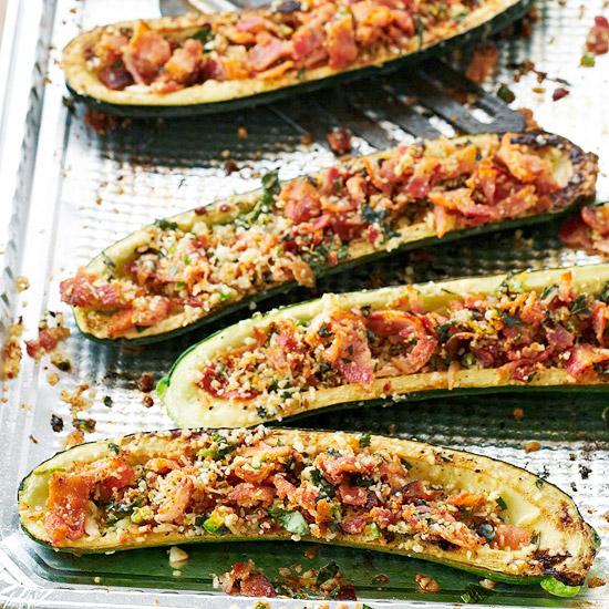 zucchini bacon boats