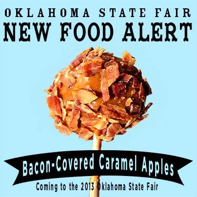 bacon caramel apples oklahoma state fair