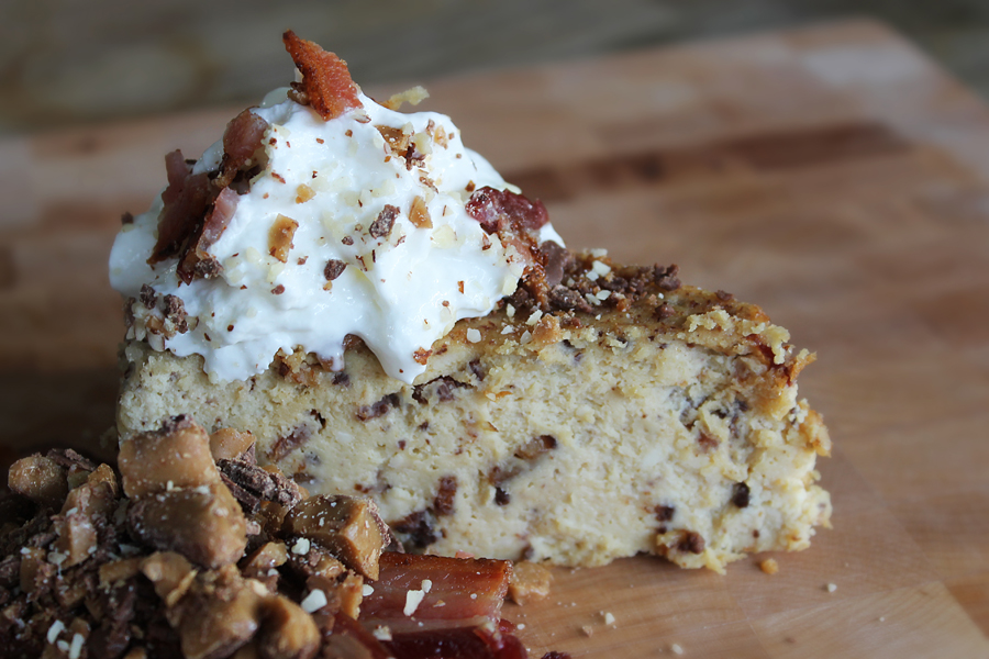 Bacon Toffee Cheesecake