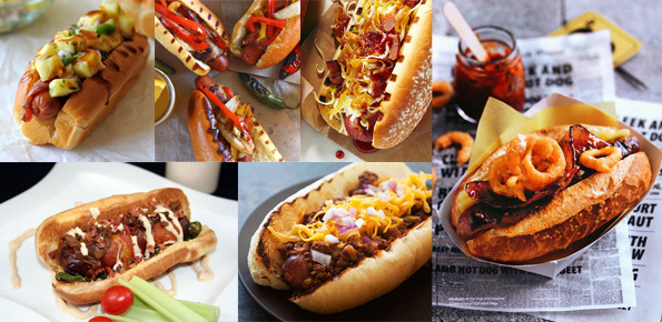 Hot Dogs, Hot Dog Month, Food, Bacon Wrapped Hot Dogs