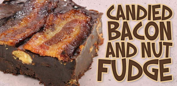 Candied Bacon and Nut Fudge