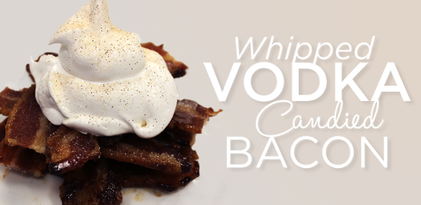 Whipped Vodka Candied Bacon