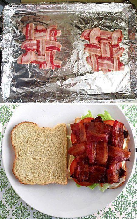 bacon weave sammich