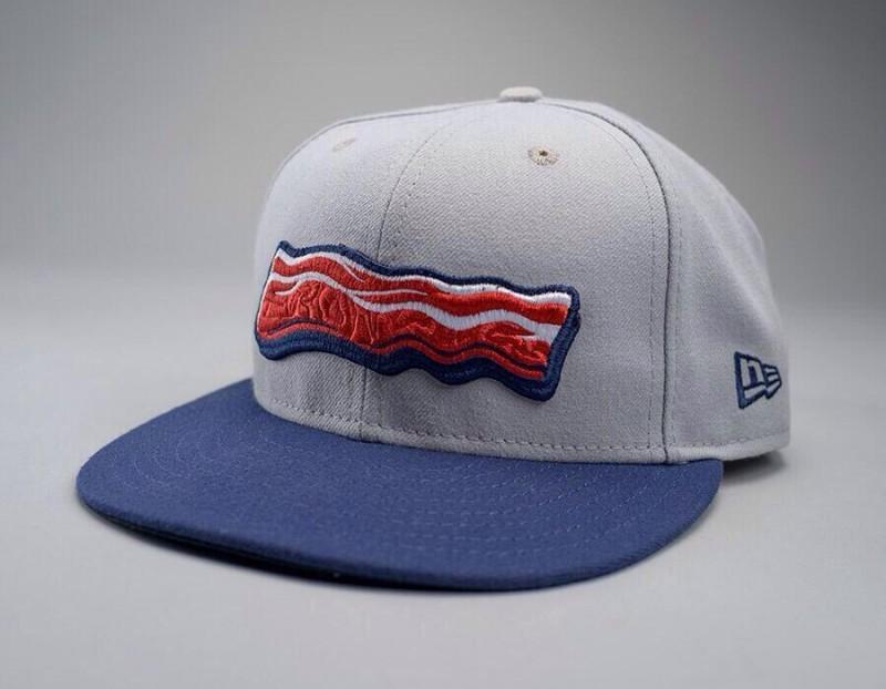 Lehigh Valley Iron Pigs new bacon strip baseball cap