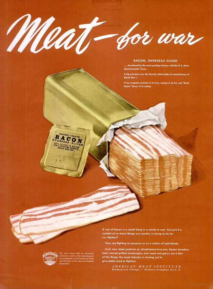 better 1945 bacon war ad