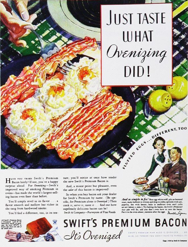 ovenizing bacon