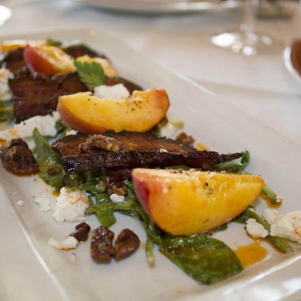 Peach Salad -Delmonico