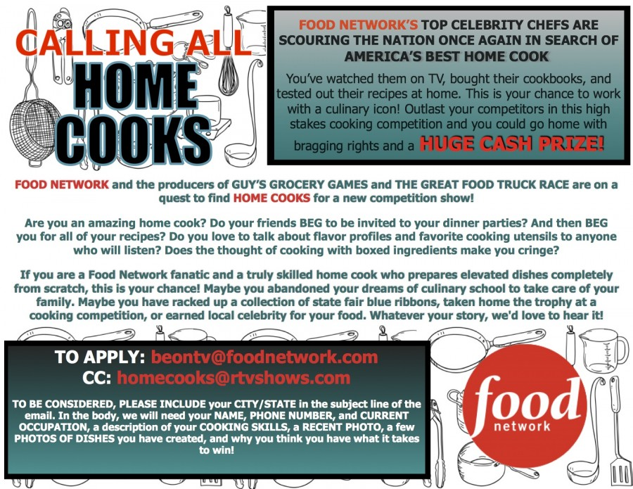 Food networks home cook competition show fn home cooks flyer jpeg forumfinder Choice Image