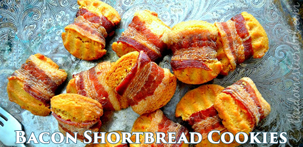 Bacon Wrapped Shortbread Cookies