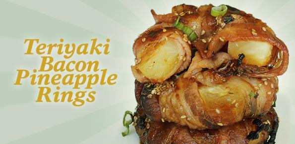 teriyaki bacon pineapple rings