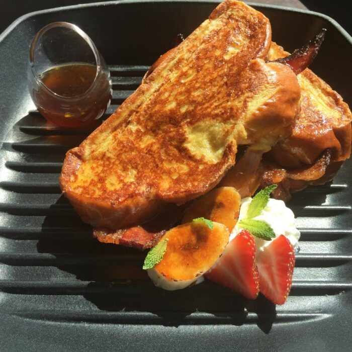 stuffed french toast with bacon