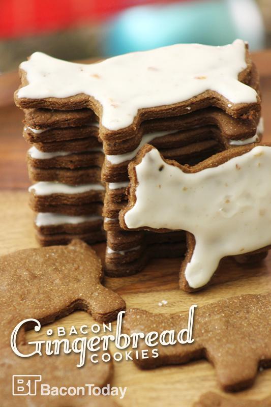 Bacon Gingerbread Cookies