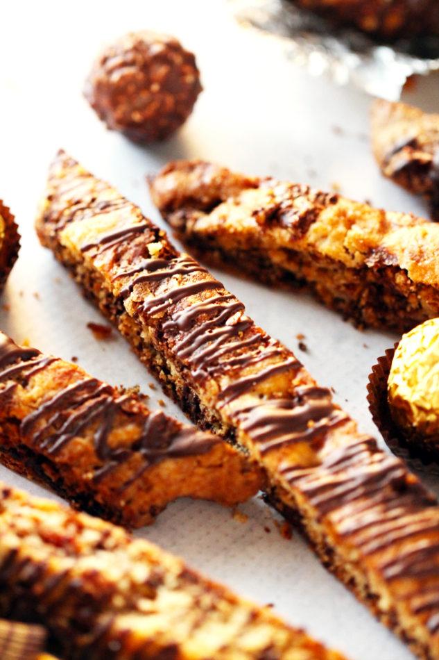 Bacon Ferrero Rocher Biscotti
