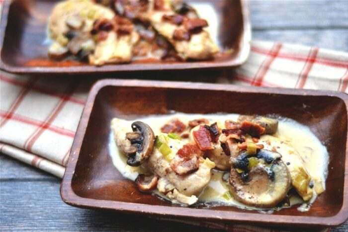 Creamy-Maple-Dijon-Chicken-Skillet-with-Bacon