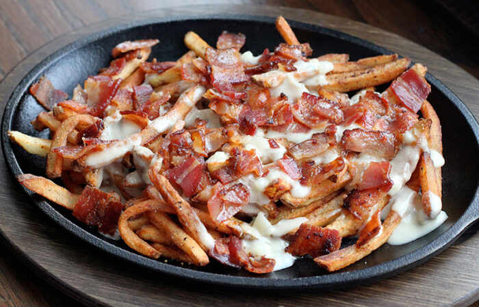 Bacon and Blue Cheese French Fries