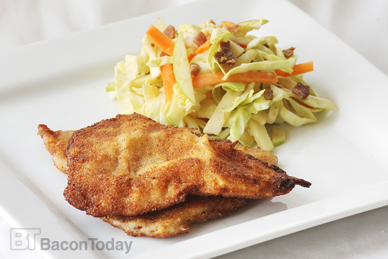Fried Irish Bacon and Bacon Cabbage Slaw