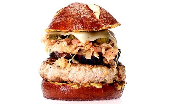 Chef Rob's Reuben Cuban Bacon Burger