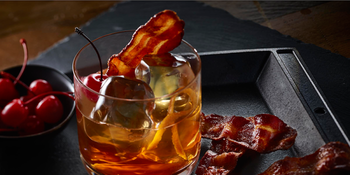 Bacon Infused Manhattan Cocktail
